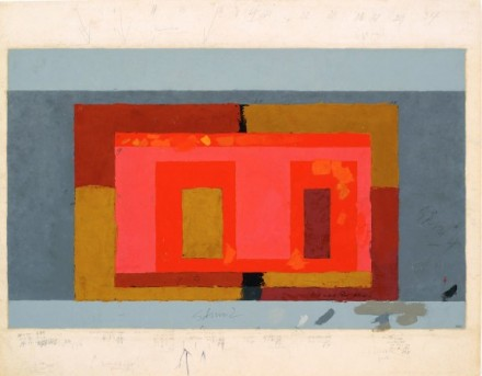 Josef Albers, Variant  Adobe, ca. 1947 Courtesy The Morgan Library & Museum