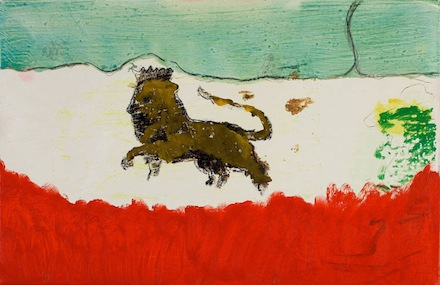 "Peter Doig, ""Lion in Sand"""