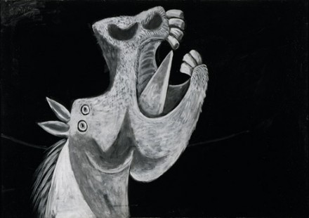 Pablo Picasso, Head of a Horse, Sketch for Guernica (Tête de cheval, étude pour Guernica), Grands-Augustins, Paris, May 2, 1937