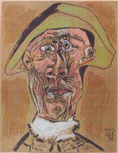 Picasso Harlequin Head courtesy Businessweek