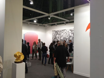 Almine Rech's booth on opening night