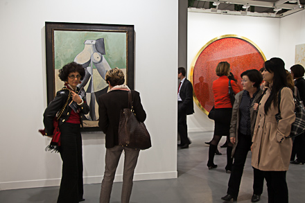 Gagosian's booth on opening night