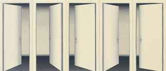 Gerhard Richter 5 Doors II via Christie's