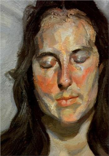 Woman With Eyes Closed 2002 Lucian Freud courtesy Businessweek