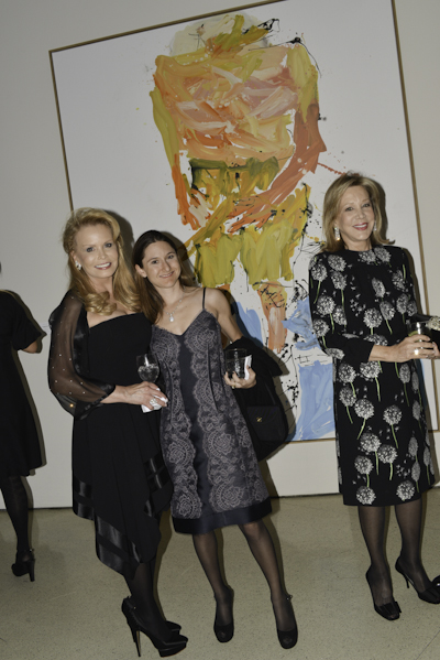Guggenheim Chair Christina Baker (left) with guests
