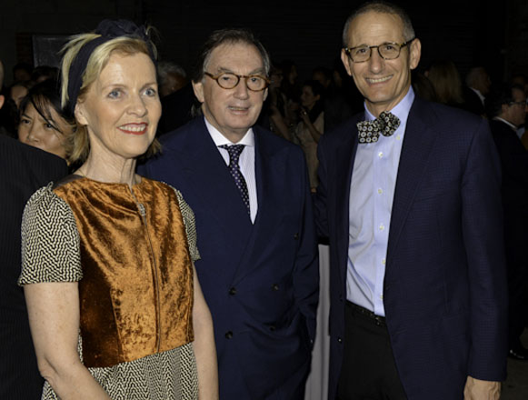 Guests with gallerist Jim Cohan (right)
