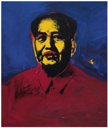 Andy Warhol Mao courtesy Phillips de Pury & Co.