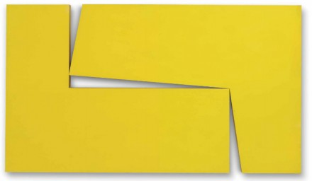 Carmen Herrera Amarillo Dos (from the series Estructuras) 1971 courtesy Christie's