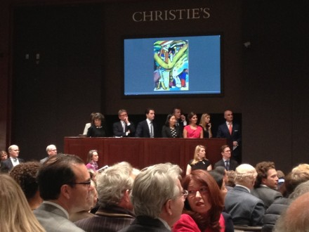 Sale room at Christie's
