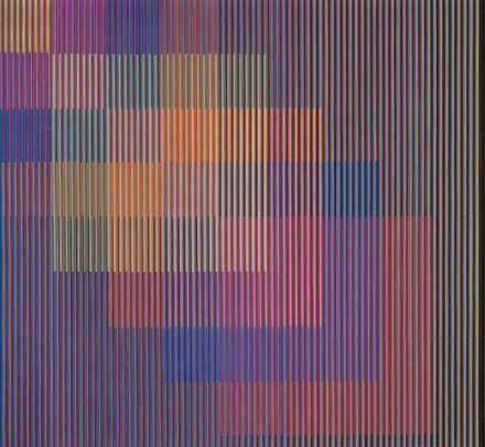 Carlos Cruz-Diez Physichromie No. 652 1973 courtesy Christie's