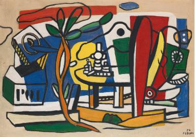 Ferdinand Leger La Table Dans Le Jardin Courtesy Sothebys