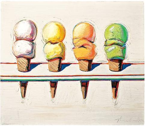 Four Ice Cream Cones,1964