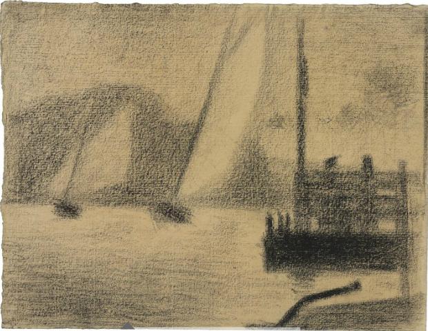 Georges Seurat Régates (Deux bateaux à voiles)