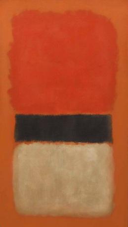 Mark Rothko Black Stripe Orange Gold and Black courtesy Christie's