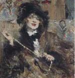Nicolai Fechin Portrait of Mademoiselle Podbelskaya courtesy Christie's