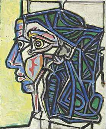 Pablo Picasso Tête de femme Courtesy Christies
