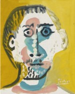 Pablo Picasso Tête d'homme Courtesy Sotheby's