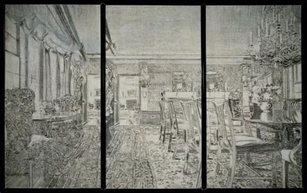 Richard Artschwager Triptych V 1972