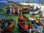 "South African artist Irma Stern's 1931 ""Fishing Boats"""