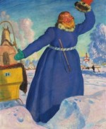 The Coachman 1923 painting by Boris Kustodiev courtesy Christie's