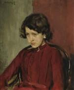 Valentin Alexandrovich Serov Portrait of Praskovia Anatolievna Mamontova