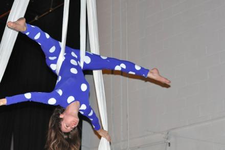 Aerial acrobat performance