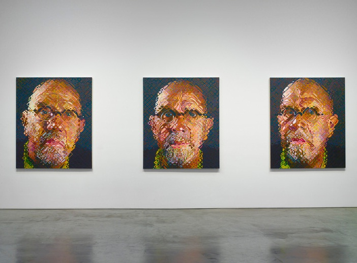 Chuck Close, Pace Gallery, installation view 3