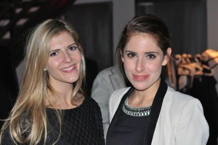 Patron Colleen Ritzau Leth with Juliette Premmereur of Paul Kasmin Gallery
