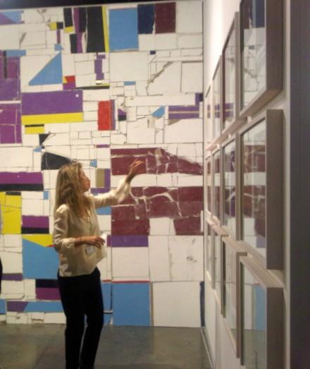 Elizabeth Beer at ARRATIA, BEER booth, installation view