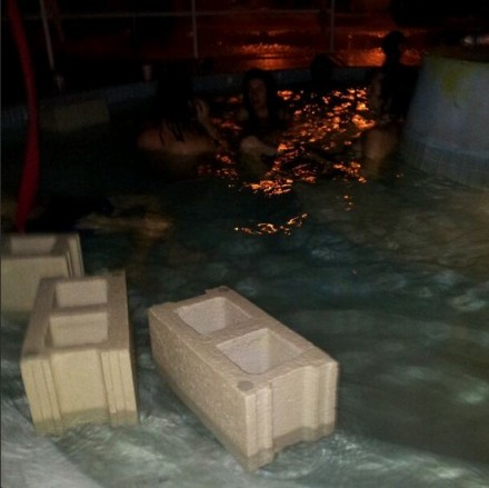Floating Cinderblocks Nada Pool Party