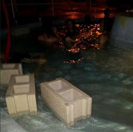 Floating Cinderblocks Nada Pool Party