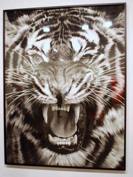 Galerie Thaddaeus Ropac, Robert Longo, Untitled, Roaring Tiger (2012)