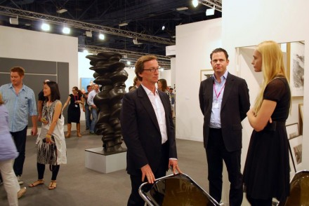 Galerie Thaddaeus Ropac, installation view with gallerist Thaddeaus Ropac and staff