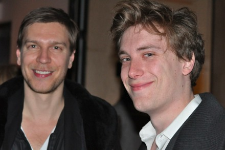 Artist Kasper Sonne and writer Dan Duray of The New York Observer