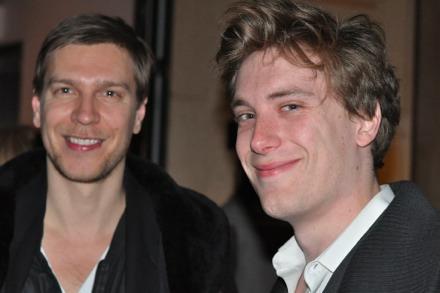 Artist Kasper Sonne and writer Dan Duray of The New York Observer