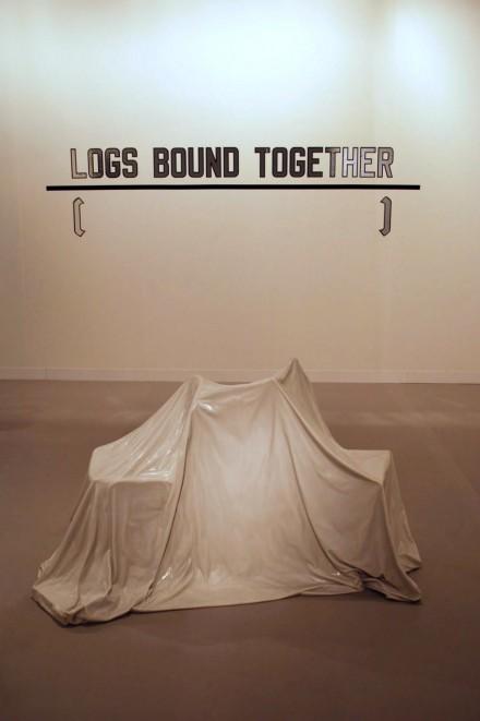 Lisson Gallery, Lawrence Weiner Logs Bound Together (1991) Ryan Gander (2012)