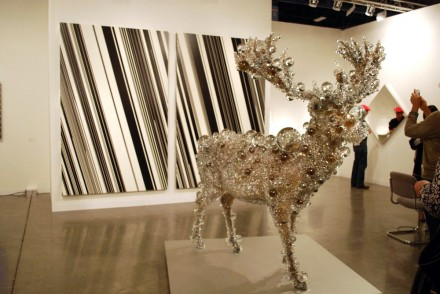 SCAI The Bathouse, Natsayuki Nakanishi Work(1986) and Kohei Nawa Pixcell Red Deer (2012)