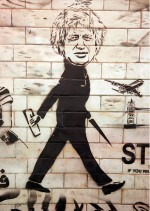 Street Artist Kaagman Boris Johnson