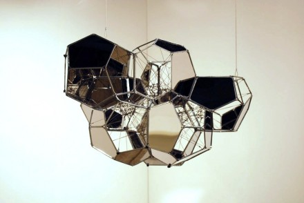 Tanya Bonakder Gallery, Tomas Saraceno, aluminium cloud of 7 modules (2012)