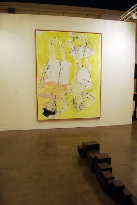White Cube, ABMB. Georg Baselitz, Bereit am Morgen (2010) and Anthony Gormley, Shed (2012)