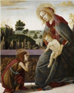 Sandro Botticelli The Madonna and Child with the Young Saint John the Baptist in a Landscape