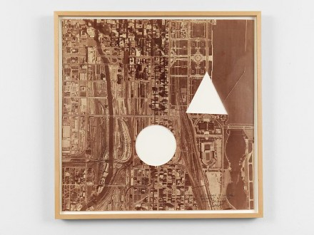 Sol LeWitt, A Square of Chicago without a Circle and Triangle (1979), via James Cohan