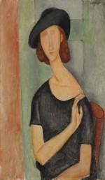 Amedeo Modigliani, Jeanne Hebuterne (au Chapeau), (1919) via Bloomberg