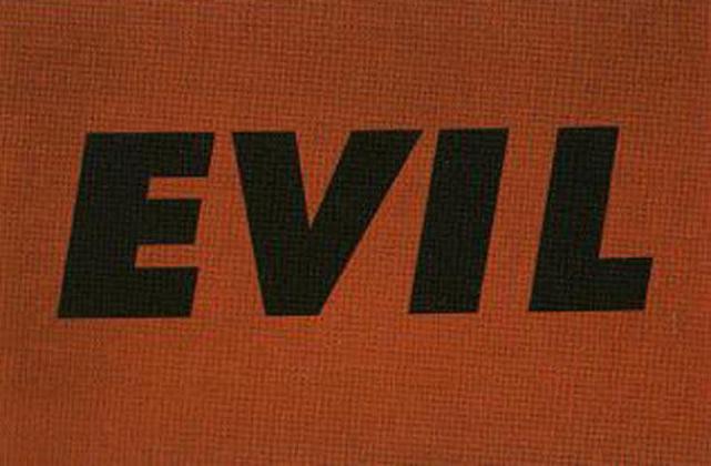 Ed Rushcha, Evil (1971), via Bernard Jacobson