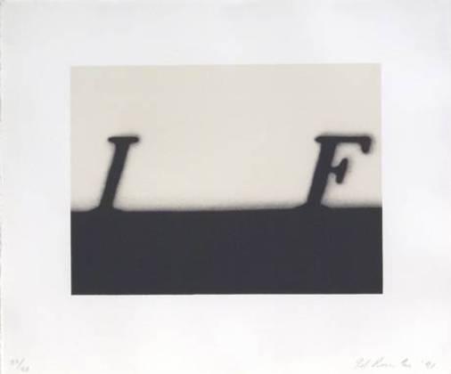 Ed Rushcha,  If (1991),via Bernard Jacobson
