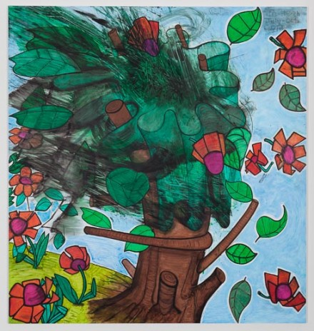Carroll Dunham Late Trees #5 (2012) via Gladstone Gallery