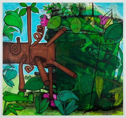 Carroll Dunham Late Trees #6 (2012), via Gladstone Gallery
