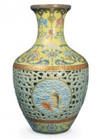 18th Chinese Porcelain Vase, via Bloomberg