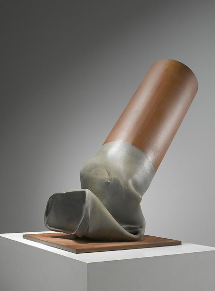 Claes Oldenburg, Fagend Study – Half Scale (1973-75), via PKM Gallery