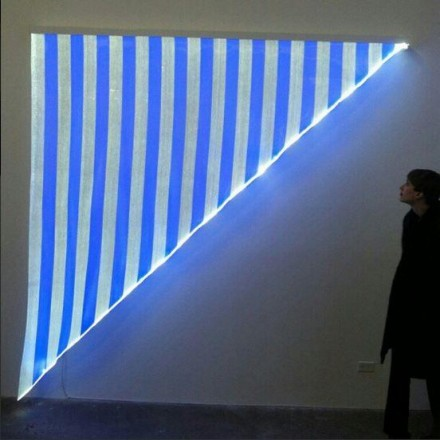 "Daniel Buren, ""Electricity"" at Bortolami Gallery (Installation View) Photo by Daniel Creahan"
